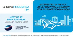 GRUPO PRODENSA is going to participate at The 53rd International Paris Air Show